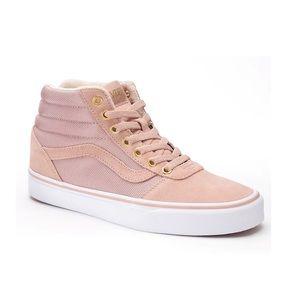 Vans ward high skate suede sneakers rose pink 7.5
